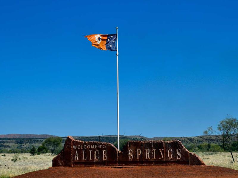 Alice Springs Australie en Van