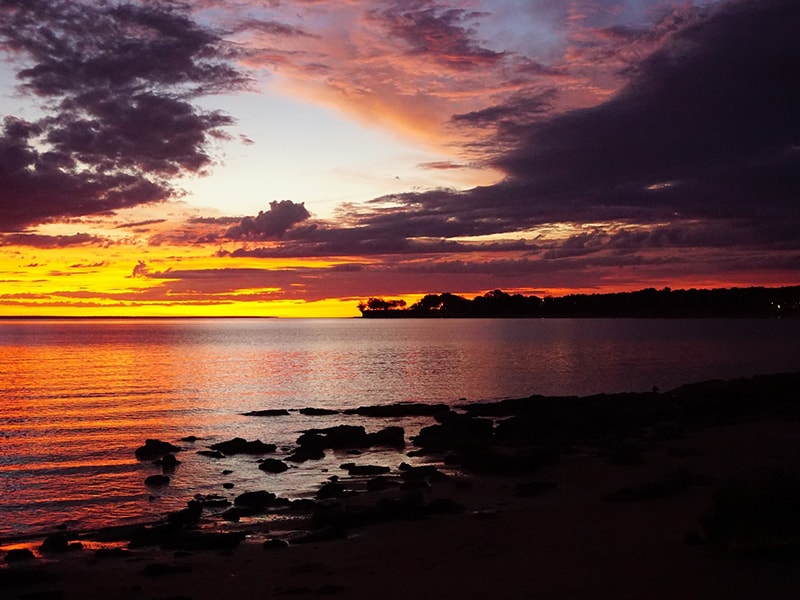 Coucher de soleil Darwin Mindil Beach