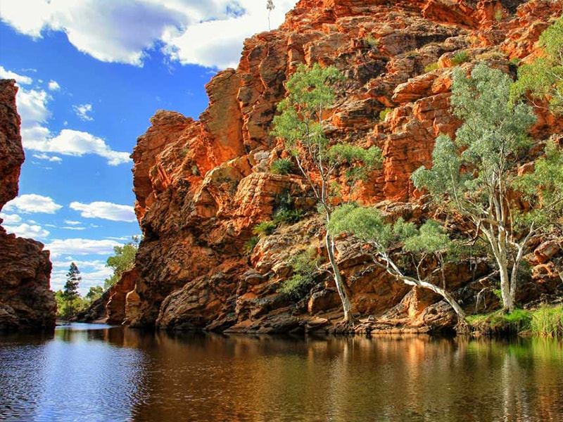 Ellery Creek Alice Springs Australie en Van