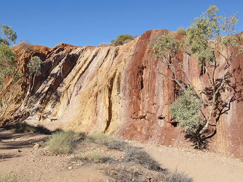 Ochre Pits Alice Springs Australie en Van