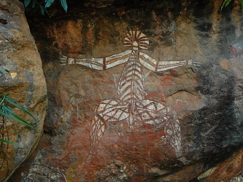Peinture-aborigene-Kakadu-National-Park-Australie