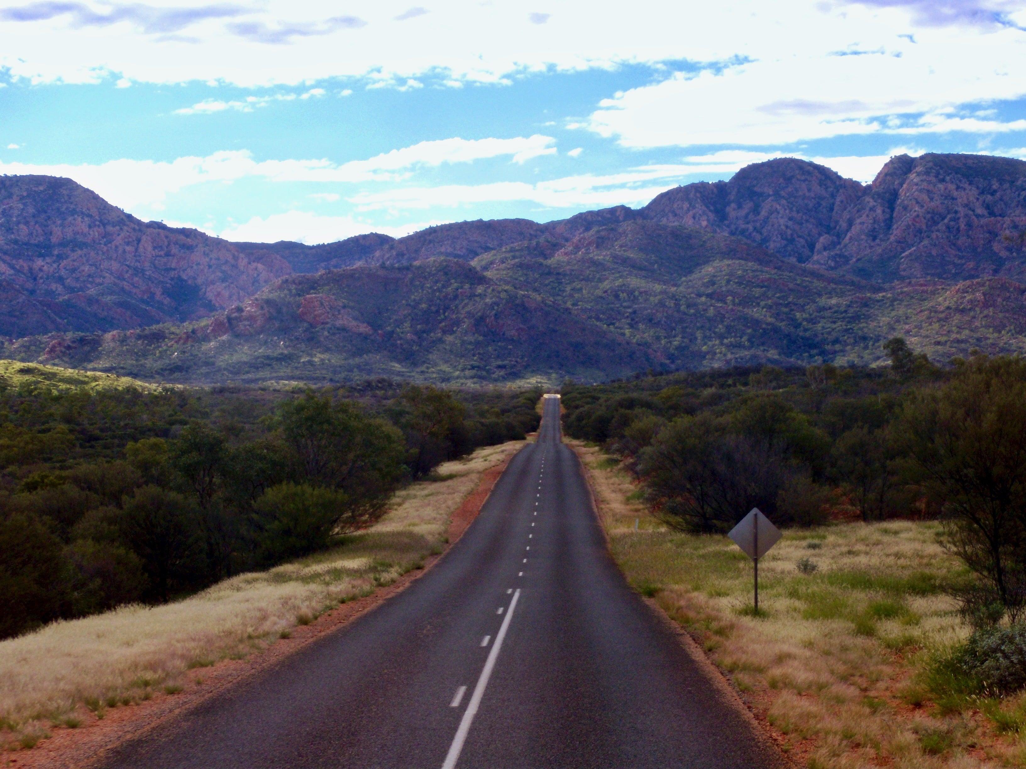 Route desert australie